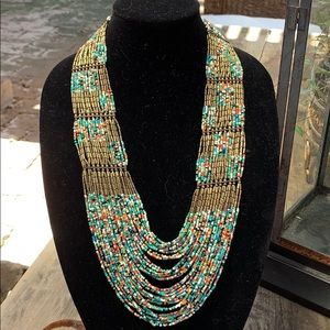 Jewelry - Beaded necklace multiple strands.